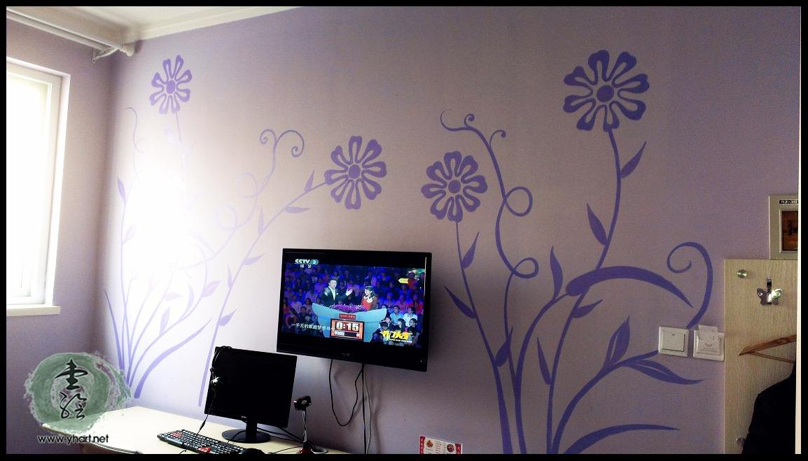 济南明湖西路熙瑶宾馆墙绘