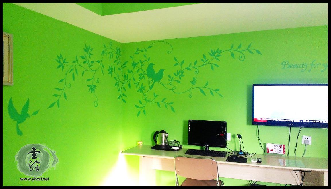 房间墙绘设计图片