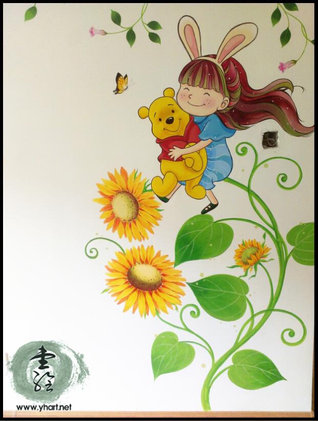 花卉藤蔓墙绘