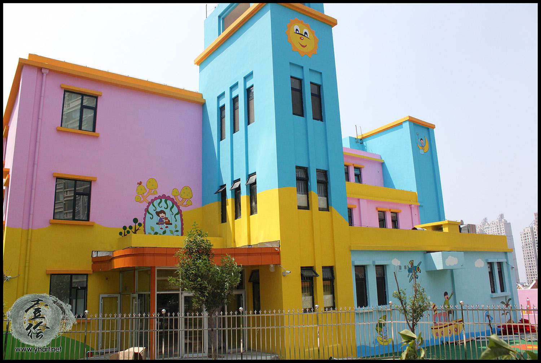 幼儿园外墙墙绘素材_济南多彩思维幼儿园外墙墙绘工程-济南墙绘