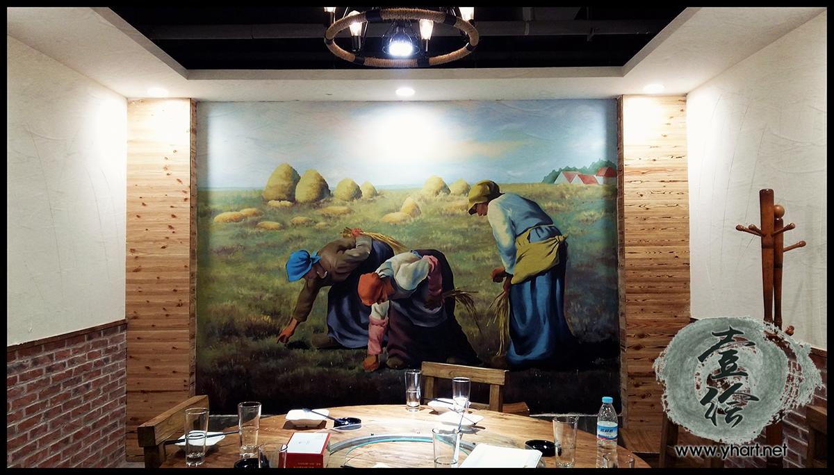 济南领头羊烧烤城彩绘-济南墙绘