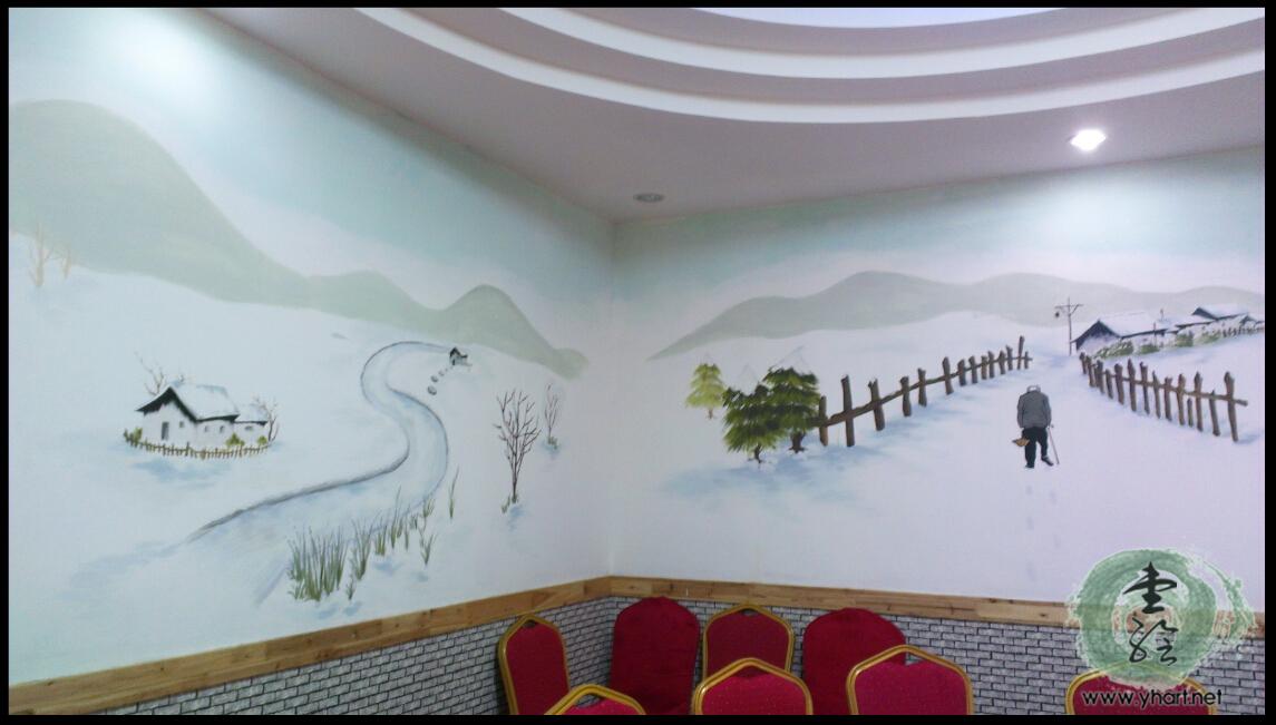 济南明湖西路东北土菜馆墙绘